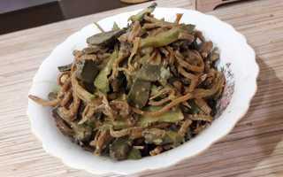 Салат с печенью и солеными огурцами – рецепт пошаговый с фото