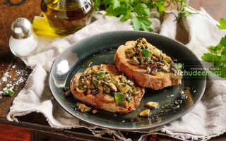 Брускетта с грибами – рецепт пошаговый с фото