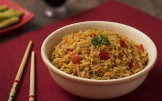 Рис с тушеными овощами на сковороде – рецепт пошаговый с фото