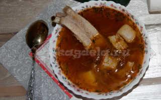 Щи с квашеной капустой и свининой – рецепт пошаговый с фото