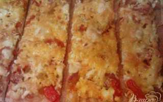 Пицца на готовой основе с плавленым сыром в духовке – рецепт пошаговый с фото