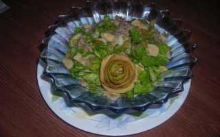 Пикантный салат с говядиной – рецепт пошаговый с фото