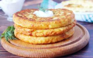 Картофельная лепешка на сковороде – рецепт пошаговый с фото