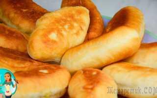 Домашние жареные пирожки с тушеной капустой – рецепт пошаговый с фото
