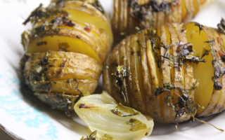 Картошка-гармошка с морковно-чесночной зажаркой – рецепт пошаговый с фото