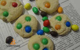 Печенье с ммдемс в домашних условиях – рецепт пошаговый с фото