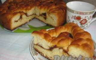 Пирог из дрожжевого и песочного теста с повидлом – рецепт пошаговый с фото