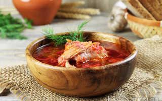 Борщ из курицы со свежей жареной капустой – рецепт пошаговый с фото