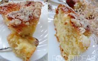 Пирог с изюмом и сахарной пудрой – рецепт пошаговый с фото