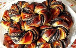 Дрожжевые булочки с курагой и маком в духовке – рецепт пошаговый с фото