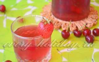 Компот из земляники, вишни и клубники – рецепт пошаговый с фото