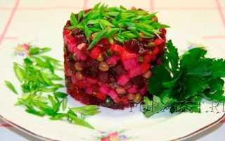 Винегрет с квашеной капустой без фасоли – рецепт пошаговый с фото